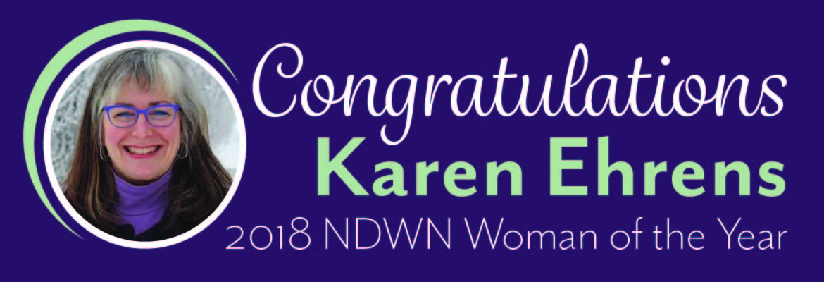 Karen Ehrens Named Woman of the Year by North Dakota Women's Network